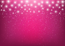 Shiny stars on pink Stock Photography