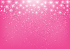 Shiny stars on pink Royalty Free Stock Photos