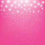 Shiny stars on pink Stock Image