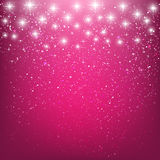 Shiny stars on pink Stock Images