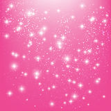 Shiny stars on pink Royalty Free Stock Photography