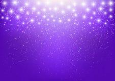 Shiny stars on purple Royalty Free Stock Image