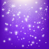 Shiny stars on purple Stock Photo