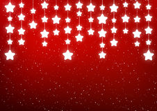 Shiny stars on red Stock Images