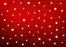 Shiny stars on red Stock Photography