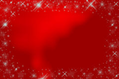 Shiny stars red frame Stock Photography