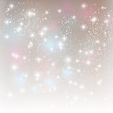 Shiny stars. On silver background Royalty Free Stock Photo