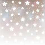 Shiny stars on silver background Royalty Free Stock Photography