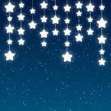 Shiny stars on sky background. Shiny stars on blue sky background Royalty Free Stock Images
