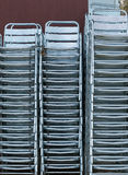 Shiny steel chairs Royalty Free Stock Photography