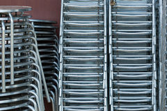 Shiny steel chairs Stock Photography
