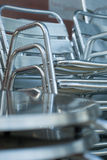 Shiny steel chairs Stock Images