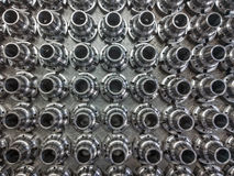 Shiny steel parts background Royalty Free Stock Images