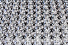 Shiny steel parts backround Stock Photography