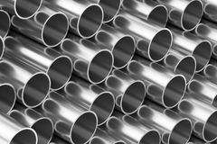 Shiny steel pipes background Royalty Free Stock Image