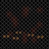Shiny steel Rabitz web fence background pattern Stock Image