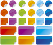 Shiny Stickers Royalty Free Stock Photography