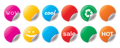 Shiny Stickers Royalty Free Stock Photo