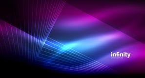 Shiny straight lines on dark background, techno digital modern template vector illustration