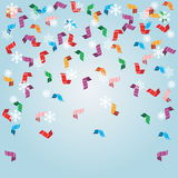 Shiny streamers or party serpentine. Vector Stock Image