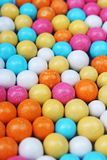 Shiny sugar coated round chocolate balls as background. Candy bonbons multicolored texture. Round candies sweets pattern. Concept. Food photo studio photography Stock Image
