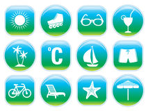 Shiny Summer Icons. Set of 12 summer holidays signs to put you in a summer mood. Need more images? Please visit my portfolio vector illustration