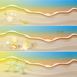Shiny Summer theme banner set Royalty Free Stock Photo