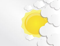 Shiny sun and clouds  Royalty Free Stock Images