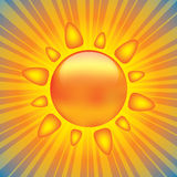 Shiny sun design element. With rays Stock Image