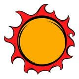 Shiny sun icon, icon cartoon Royalty Free Stock Photo