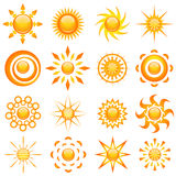 Shiny sun vector Stock Photo