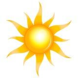 Shiny sun Stock Photography