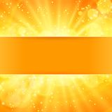 Shiny sun vector with place for text Royalty Free Stock Photos