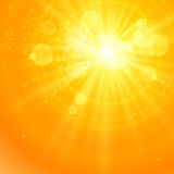 Shiny sun vector and space for your text Stock Photos