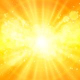 Shiny sun vector, sunbeams, sunrays Royalty Free Stock Photography