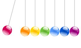 Shiny Swinging balls Stock Image