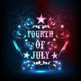 Shiny text for American Independence Day celebration. Royalty Free Stock Image