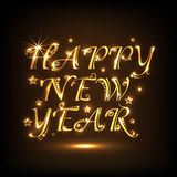 Shiny text design for Happy New Year 2015 celebration. Shiny beautiful golden text of Happy New Year 2015 in night view background, can be used as poster Stock Image