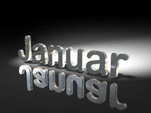 Shiny text design - Januar Royalty Free Stock Image