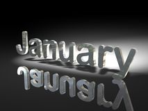 Shiny text design - January Stock Image