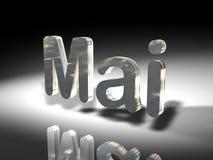 Shiny text design - Mai Stock Photo