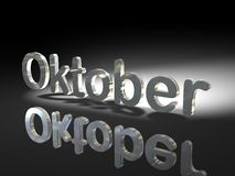 Shiny text design - Oktober Royalty Free Stock Photo