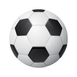 Shiny three-dimensional soccer ball Royalty Free Stock Photos