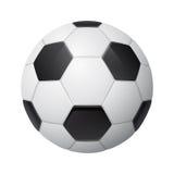 Shiny three-dimensional soccer ball Royalty Free Stock Photos