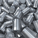 Shiny tin cans Royalty Free Stock Photos