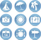 Shiny  travel icons in vector Stock Photo