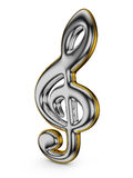Shiny treble clef Royalty Free Stock Image