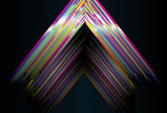 Shiny Triangle background Stock Photo