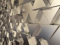 Shiny triangular metal bars Stock Image