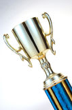 Shiny Trophy. Close-up of Trophy against white background Stock Photography